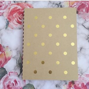 Other - Polka Dot Cardboard Cover Journal - Brown Pages